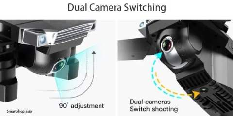 Drone dual camera switching