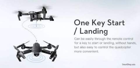 one key start and landing